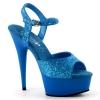 DELIGHT-609UVG Neon Blue Glitter